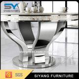 Tableau moderne d'acier inoxydable de 8 Seater avec le dessus de marbre