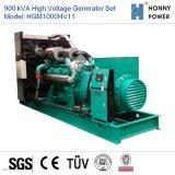 Hochspannungsset des generator-900kVA 10-11kv mit Googol Motor 50Hz