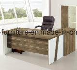 A tabela executiva com biblioteca lateral, tabela de mesa de escritório da saliência com suporte móvel, mobília de escritório ajusta a mesa de escritório executivo
