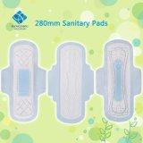 garnitures sanitaires ultra-minces de 28cm pour l'usage de nuit avec la FDA, certificat de la CE
