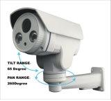 60m IRの弾丸のカメラ4Xは光学ズームレンズ2.8-12mmレンズPTZ CCTV IPのカメラを防水する