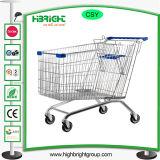 Carrello della mano del carrello del carrello di acquisto del supermercato
