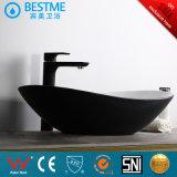 Bassin luxueux de partie supérieure du comptoir d'art de salle de bains avec la couleur noire Bc-7017K