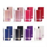 Cassa di cuoio del telefono di Bowknot dell'unità di elaborazione di vendite calde per il iPhone 7/7plus/X/8plus