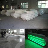 Compteur blanc de réception de marbre d'éclairage LED de bureau