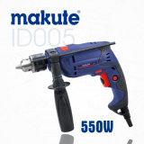 Taladro de martillo eléctrico profesional del impacto 550W de la herramienta 13m m (ID005)