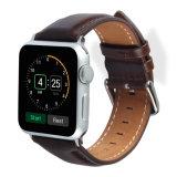 Apple 시계 줄을%s 형식 Dw 작풍 진짜 가죽 시계 결박 모든 시리즈 22mm