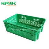 La grande entreprise industrielle de l'agriculture intensive de légumes et fruits de la caisse en plastique à mailles empilable