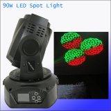 Mini-bewegliches Hauptlicht DMX Stadium DJ-LED 90W