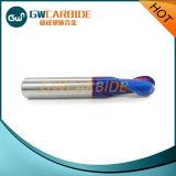 Molino de extremo sólido del carburo de la alta precisión HRC60