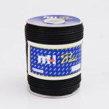 12мм из натуральной кожи черного цвета предвзятости обязательного окантовкой шнур питания оптовая торговля
