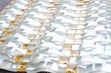 カスタマイズされた居間の装飾的で安い波状のガラスモザイク・タイル