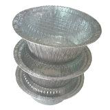 卸し売りバーベキューの一定の容器そしてアルミホイルの皿鍋
