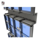 Einkaufszentrum-sichtbares Rahmen-Höhlung-Strangpresßling-ausgeglichenes Glas-Aluminiumzwischenwand-System
