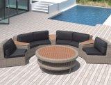 Sofà domestico esterno stabilito dell'ufficio dell'hotel del salotto di Dover del sofà del rattan del giardino del patio (J653)