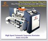 Automatische Inspektion-Rückspulenhochgeschwindigkeitsmaschine (DLFJ-600)