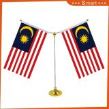 Bandiera nazionale su ordinazione della Tabella dello scrittorio del poliestere della stampa della bandierina della scrivania