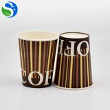 Taza de papel revestida del PE de un sólo recinto, tazas de café de papel disponibles, diseños de la taza de papel del café