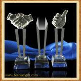 Troféu por atacado do cristal da mão