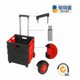 Chariot pliable en plastique de chariot à achats fabriqué en Chine