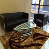 現代デザイン白くおよび黒く光沢度の高いオフィス用家具の事務机