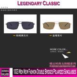 1003 homens novos óculos polarizados pontes duplo de moda
