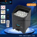 Boda etapa Club Bar 6pzas RGBWA UV 6en1 LED de batería Uplighting Control Remoto Wireless LED de batería de la luz de par plana