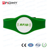 Code Kurbelgehäuse-BelüftungRFID Wristband des Silk Bildschirm-Drucken-I für Reklameanzeige