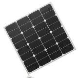 panneau solaire monocristallin flexible Sunpower de 50W 18V pour la pile solaire campante de puce de la caravane Outdoor+Sunpower de chargeur de batterie