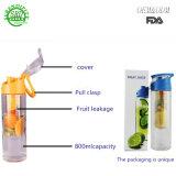 De nieuwe Blauwe Kop van het Water van de Infusie BPA van het Fruit Vrije Plastic Opnieuw te gebruiken