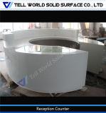 구부려진 인공적인 돌 접수처 사무실 접수대 디자인