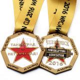 Medalla masónica del metal de encargo con la cinta