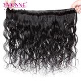 イボンヌのペルーの人間の毛髪のWeft自然な波の卸売の毛