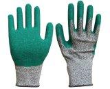 Hppe schnitt beständige Latex-Handschuhe mit rauem Ende