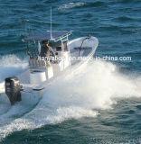 漁船のガラス繊維のパンガ刀のボートのためのLiya 25FTのガラス繊維のボート