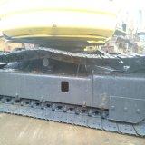 Máquina escavadora usada PC55mr hidráulica de Japão KOMATSU do baixo preço mini com crescimento do balanço e as almofadas de borracha