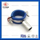 Tubo de acero inoxidable sanitario con gancho de plástico azul