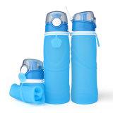 BPA liberan la botella de agua de consumición plegable 750ml del deporte al aire libre del apretón