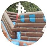 スライドが付いている耐久の安い跳躍の膨脹可能な弾力がある城