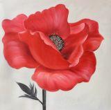 L'art neuf de mur de main de vente en gros d'arrivée ouvre la peinture à l'huile de tulipe