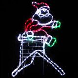 LED 밧줄 빛이 2018년 크리스마스 옥외 거리 훈장 제 2 눈사람 주제에 의하여 점화한다