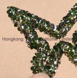Hongkong Топаз наивысшее качество пользовательских наклейки с помощью исправления в форме бабочки Pointback Rhinestone наклейки утюг в письме исправления (HF-бабочка)