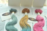 Keratineの人間の毛髪の拡張Ombre最もよい卸し売り前担保付きのカラー