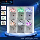 Свет РАВЕНСТВА Uplight 12PCS UV СИД батареи лития цены по прейскуранту завода-изготовителя Гуанчжоу тонкий, шайба стены свадебного банкета