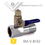 스레드 강철 손잡이 (EM-V-B182)를 가진 금관 악기 가스 공 벨브