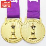 一義的で安い亜鉛合金のカスタムクラフト3Dの円形の昇進の記念品のスポーツ賞の金の金属のスポーツのブランクメダル卸売