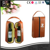 2 botellas de cuero caja de vino botellas de vino Titular (5508)