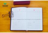 印刷されるロゴのカスタムサイズのオフィスの文房具の安い革ノート