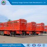 화물 가축 수송을%s 2/3대의 반 차축 40-80t 탑재량 말뚝 담 트레일러