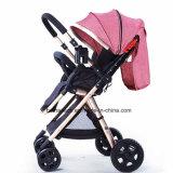 O material 3 do poliéster em 1 tipo do Pram do carro de bebê junta o carrinho de criança de bebê